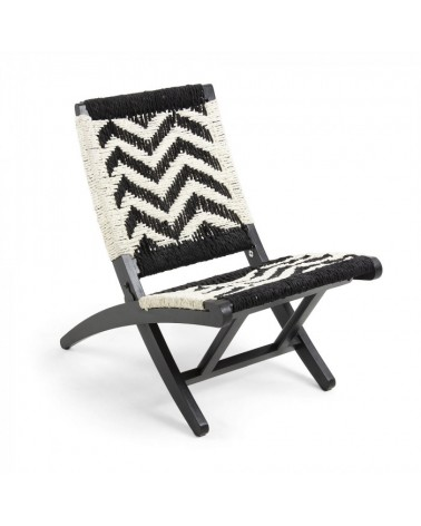 CC0592J60 HEANE Armchair mango wood natural rope white black