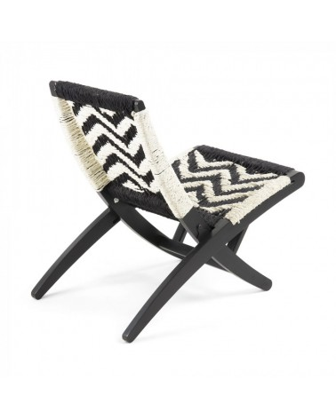 Cc0592j60 Heane Armchair Mango Wood Natural Rope White Black