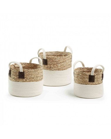 AA2041FN12 KUBICA Set 3 baskets natural fibers