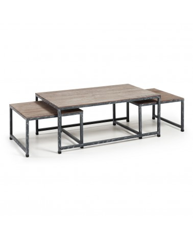 ERUTNA Set 3 Tables Wood Fir M49 N010M49