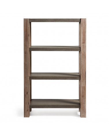 BRADLEY Shelf 143x90 acacia poly-cement dark grey AA0230M43