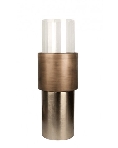 T3-A11/BRO candleholder aluminium. glass S