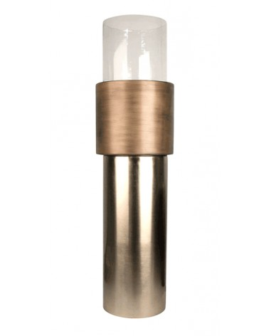 T3-A12/BRO candleholder aluminium. glass L