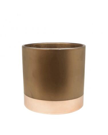 V2-C323/BR vase ceramics copper bottom S