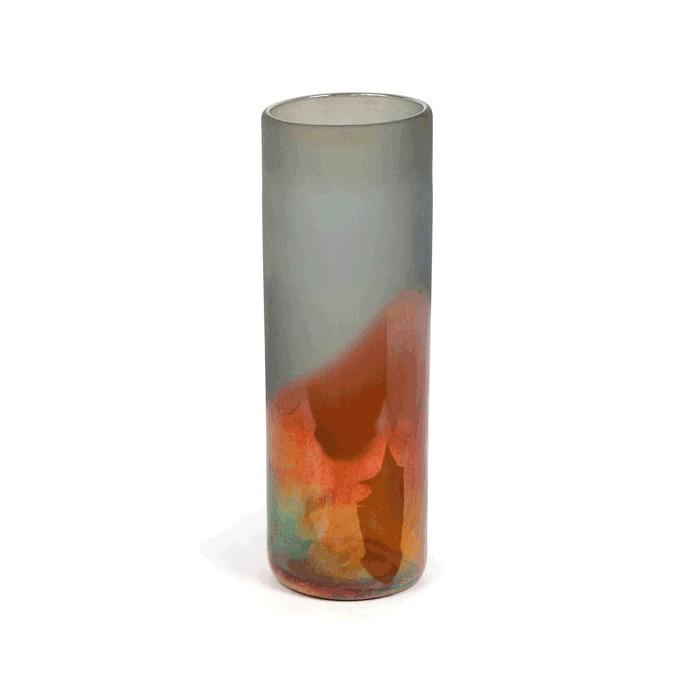 V2-G353/COP vase frosted glass