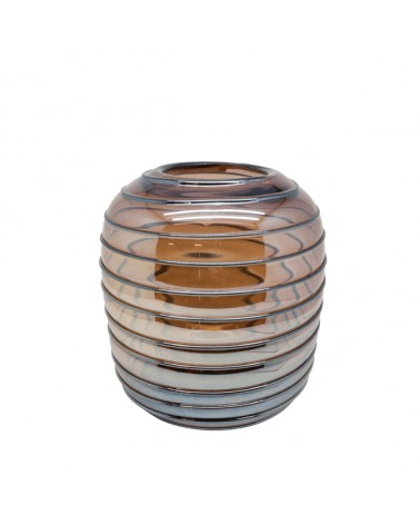 V2-G395/PU vase glass with lines S