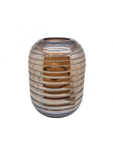 V2-G396/PU vase glass with lines M