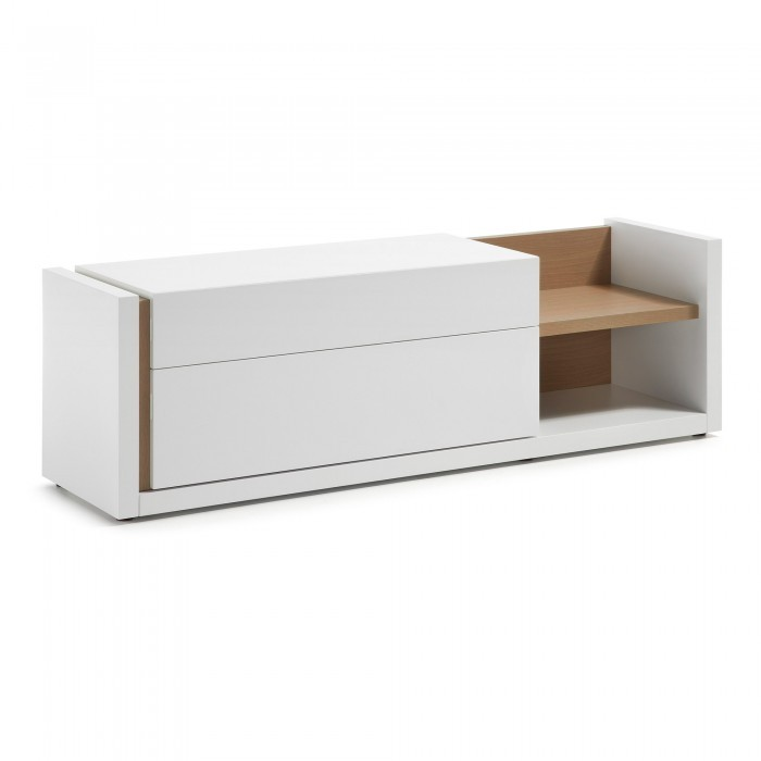 A463L05 QU Tv Cabinet 170x52 matt lacquered white
