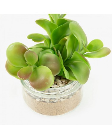 AA3189 FLOWER Artificial succulent in glass