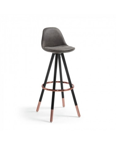 CC0379CWQ02 STAG Barstool black wood fabric graphite