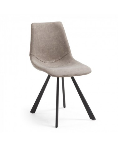 CC0252UE85 ANDI Chair metal black PU taupe