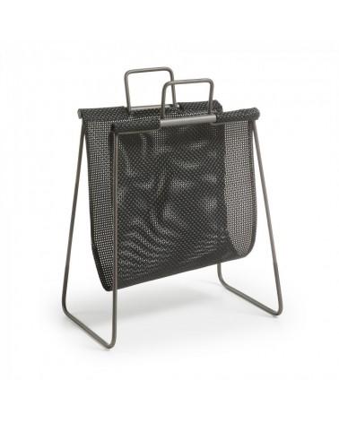 AA0459R01 GETS Magazine rack metal black textilene black