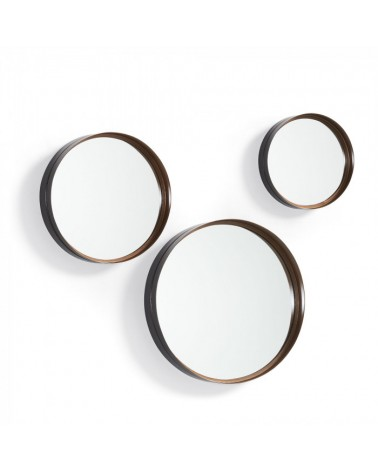AA1459R54 REM Set 3 mirrors metal copper