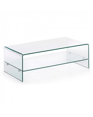 BURANO Coffee Table 110x55 Glass Clear C07 C536C07