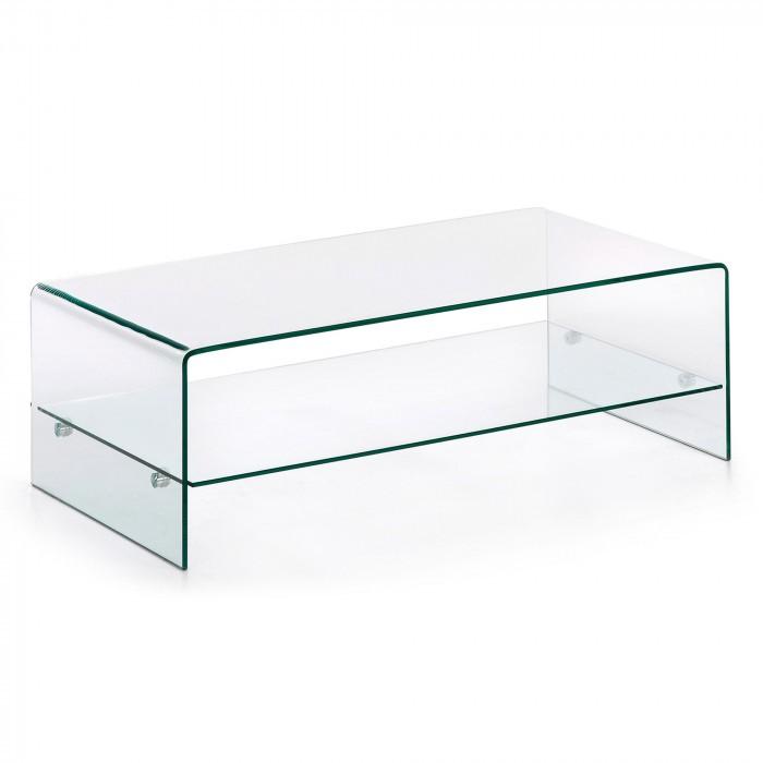 BURANO Coffee Table 110x55 Glass Clear C07 C536C07