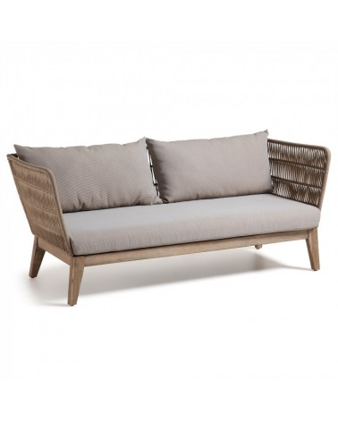BELLANO Sofa  acacia white washed rope beige C838R33