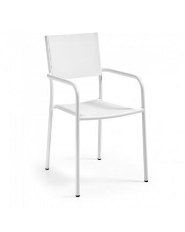 C862N05 HADLEY Armchair Aluminium white