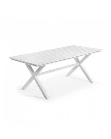 C941N05 SHELDON Table 200x90 Aluminium white