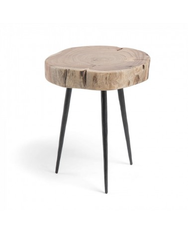 CC0408M43 ROUSY Side table metal acacia wood