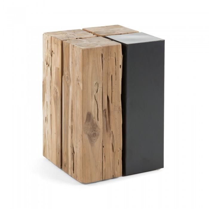 C198M47 OGNAK Coffee table iron + wood teak