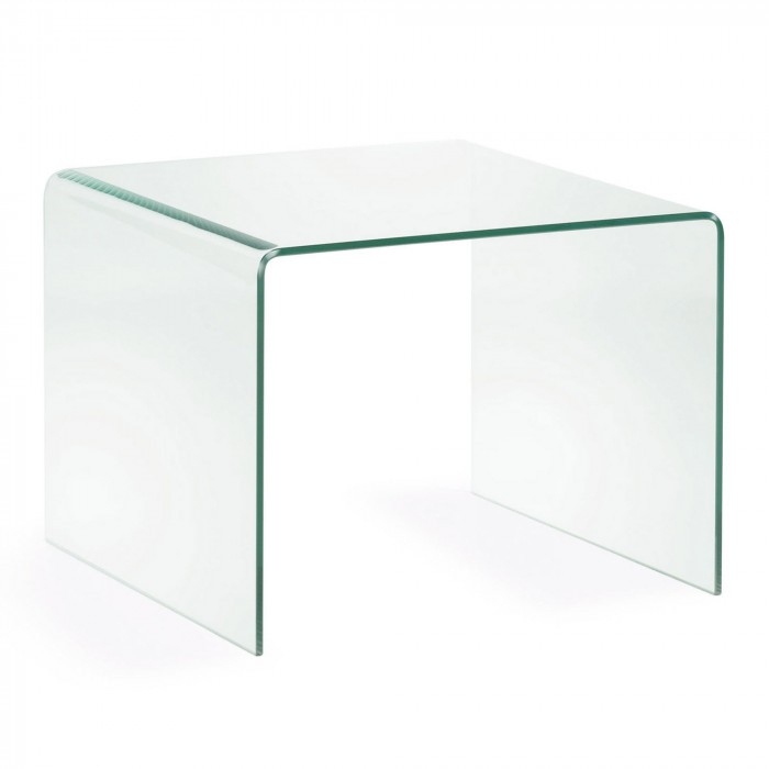 506209TRA BURANO Side table 60x60x45 Glass Clear
