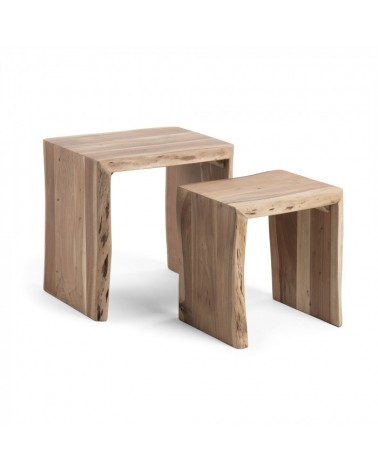 CC0474M43 KAIRY Set 2 nesting tables wood acacia