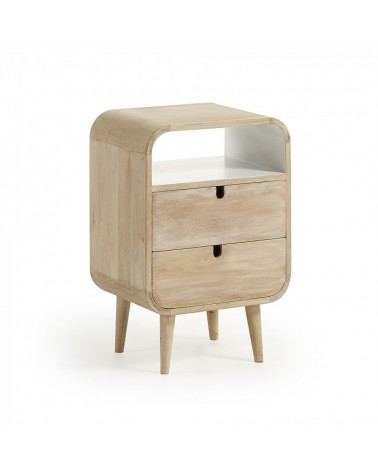 GE001M33 GERALD Bedside table 40x60 mango wood natural white