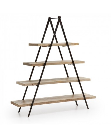 NAGROM Bookshelf Metal Frame Shelves Wood Natural M46 A465M46