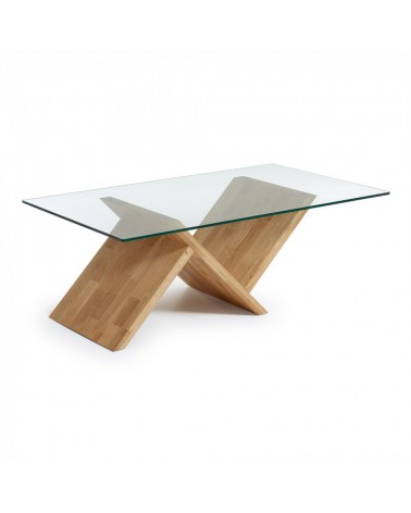 C949C07 WALEA COFFEE TABLE OAK/GLASS TOP