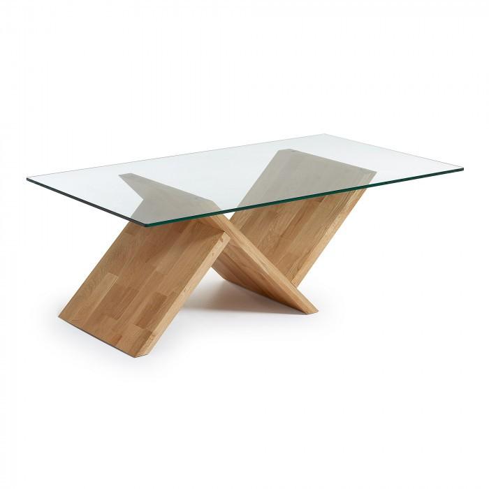 C949C07 WALEA COFFEE TABLE OAK/GLASS TOP