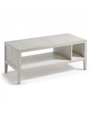WD009M33 WOODY Coffee table 110x45 pine wood white wash