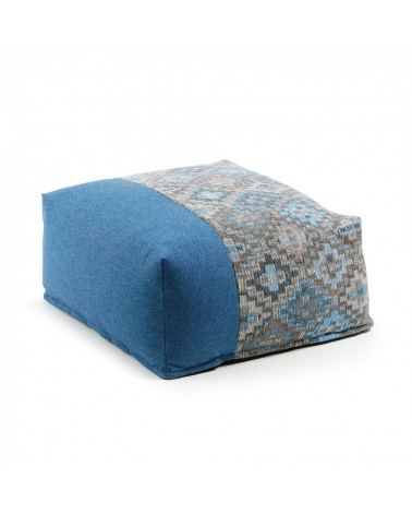 AA2273TO26 CUZCO Pouf 70x70 fabric combination blue
