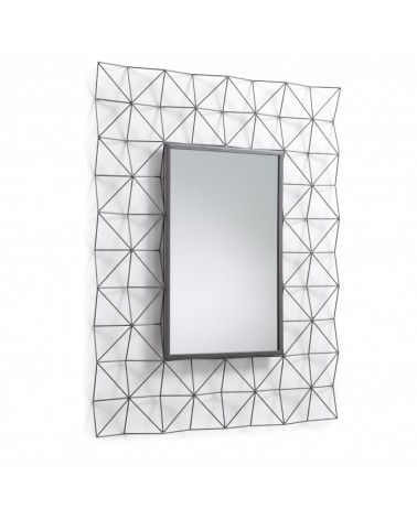 AA0454R15 - HABITA Mirror rectangular metal dark grey