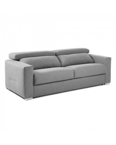 S312CH14 QUEEN Sofa bed reclining 140 visco mattress grey