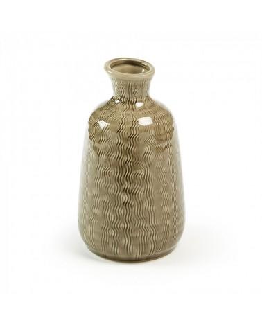 AA1817K10 ALLYSON Vase 22 cm ceramic brown