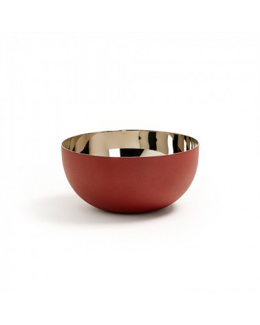 AA1277R34 BUBBLE Bowl stainless steel burgundy