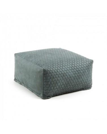 AA2293CWQ06 DAMIAN Pouf 60x60 quilted fabric green