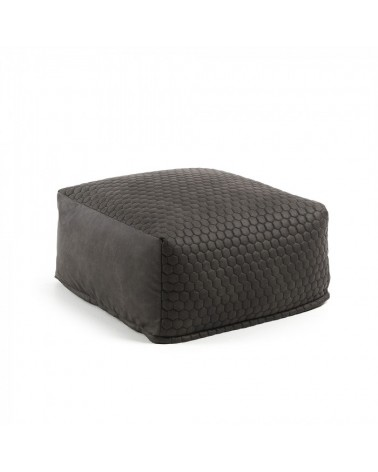 AA2293CWQ02 DAMIAN Pouf 60x60 quilted fabric graphite