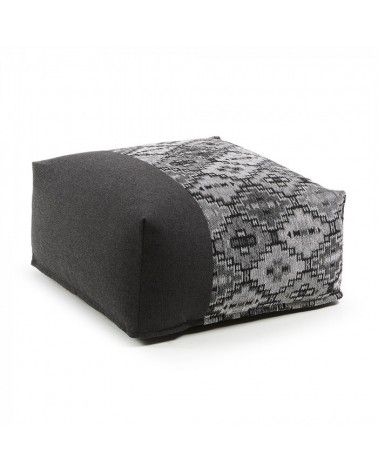 AA2273TO15 CUZCO Pouf 70x70 fabric combination dark grey