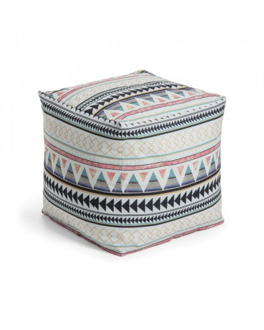 AA2515J35 ALIDA Pouf 45x45 fabric multicolor