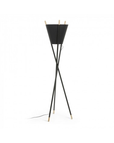 AA2380R01  ROCKLAND Floor lamp metal black