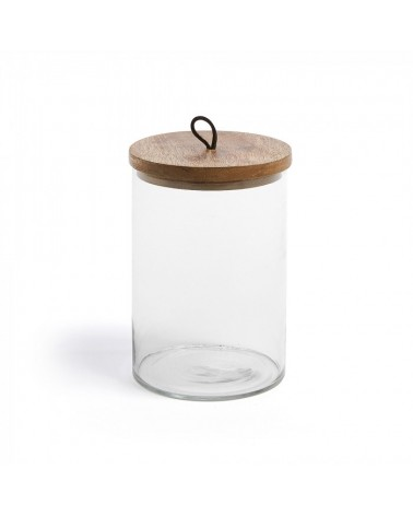 AA3432C07  CHANNING Canister 16 cm clear glass