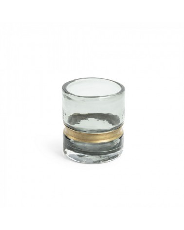 AA2829C03  JAMBALA Vase 10 cm grey glass