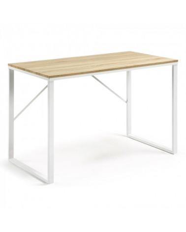 C613M46  LISBET Desk 120x60 metal white mdf natural color