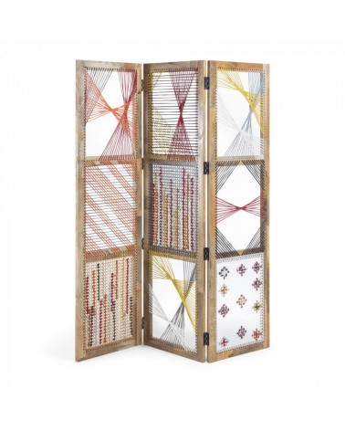 AA2025J35  HESTER Folding screen 155x183 mango wood