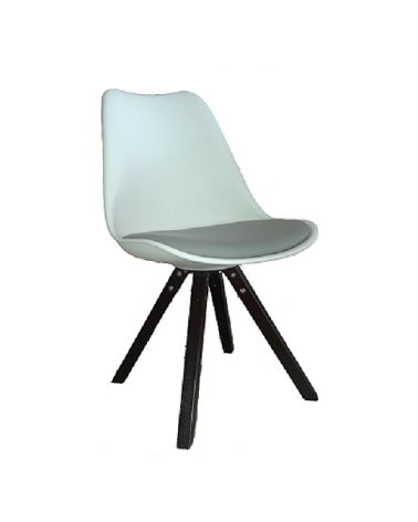 SOFIA CHAIR WALNUT / WHITE & GREY