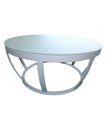 APRICOT WA2032M COFFEE TABLE WHITE/FROSTED GLASS TOP