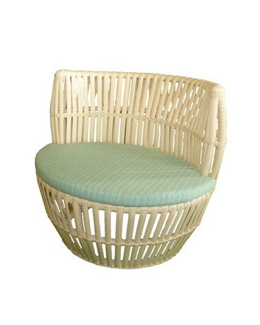 APRICOT WA1103B ROUND CHAIR WHITE/DB8001/1436