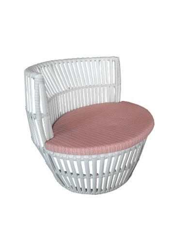 APRICOT WA1103B ROUND CHAIR WHITE/DB8001/1435