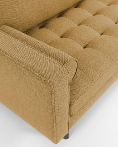 Bogart Sofa 3 Seaters Beech Wood Mustard
